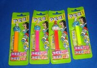 Lot of 4 German Smurf Pez Carded