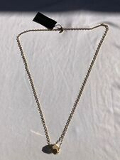 "Rebecca Minkoff 30""gold chain with polished gold ball pendant"