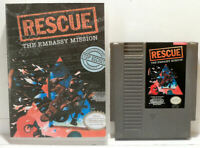 Rescue: The Embassy Mission + Hard Case w/ Custom Artwork - NES - Tested