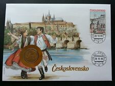 Czechoslovakia Traditional Dance 1985 Costumes Building (coin cover)