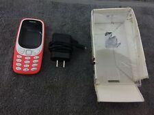 "Nokia 3310 3G, 2.4"" Screen, Bluetooth, 16MB Storage (TA-1036) - Warm Red - USED"