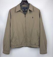 Polo Golf by Ralph Lauren Khaki Tan Windbreaker Golf Jacket Men's Large