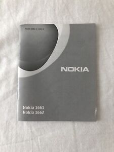 Nokia 1661 User Manual Booklet Guide