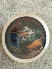 Patty Whitney Cat Life ,Kittens curator plate.Gold plated rim.Small chip on rim.