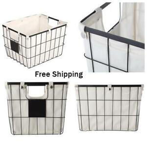 "New, Medium Wire Basket with Chalkboard, 2 Pack, Dimensions: 16"" x 12.75"" x 11"""