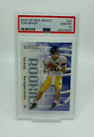 2000 Skybox Impact Tom Brady PSA 10 #27 Rookie Card RC Patriots Bucaneers INVEST