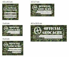 Geocache Labels / Stickers for Geocaching Containers - Vinyl Waterproof - CAMO