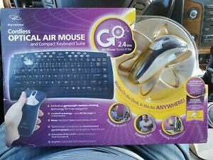 NEW Gyration Optical Air Mouse GO & Compact Wireless Keyboard Suite