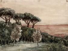 LANDSCAPE ALBANO ITALY Watercolour Painting - 19TH CENTURY - GRAND TOUR