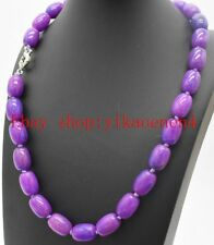 """Natural Pretty 10x14mm Cylinder Purple Sugilite Gemstones Beads Necklace 18""""AAA"""