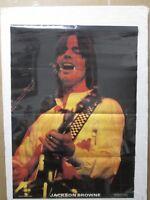 Vintage poster Jackson Brown rock musician singer 1980 Inv#G2380