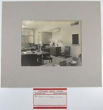 STEWART ROSS JAMES Black White Photograph Mid Century Modern Furniture Cunard b