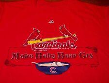 ST. LOUIS CARDINALS MLB BASEBALL MAKE BABY BEAR CRY T-Shirt MEDIUM NEW