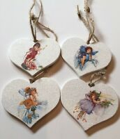 4 Fairy Hanging Decorations Individually Crafted Any Occasion Flower Fairies
