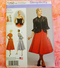 Simplicity 1250 Vintage 1950s Reprinted Dress & Jacket Sewing Pattern Size 6-14