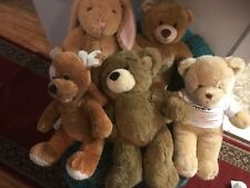 Lot Of 5 Build A Bear BABW Brown Plush Animals Clothing Included