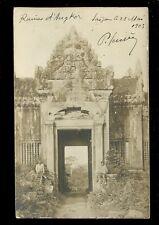 Asia Cambodia ANGKOR Ruins ref2 u/b RP PPC mailed Saigon 1903