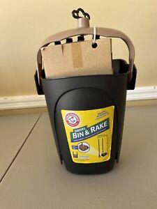 Petmate 71034 Arm & Hammer Swivel Bin & Rake Pooper Scooper