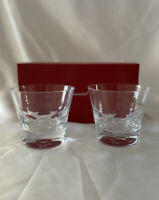 BACCARAT Crystal BELUGA 2 TUMBLER DBL OLD FASHION GLASSES