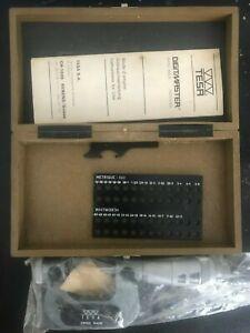 NEW TESA digitmaster 0.002mm screw thread micrometer 0-25mm