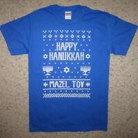 happy hanukkah ugly sweater christmas party mazel tov contest winner new t shirt