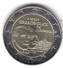 "LUXEMBURGO LUXEMBOURG 2 EUROS 2012  "" DUQUE GUILLERMO""  UNC"