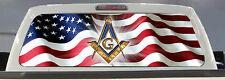 AMERICAN FLAG FREEMASON PICK-UP TRUCK BACK WINDOW GRAPHIC MASONIC DECAL