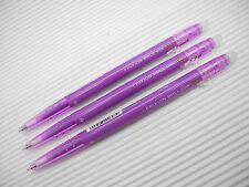 3pcs NEW PILOT retractable FRIXION ball slim 0.38mm roller ball pen Violet(Japan
