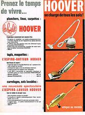 PUBLICITE ADVERTISING 054  1961  HOOVER   aspiro- laveur  batteur aspirateur