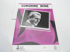 1969 vintage NOS sheet music SUNSHINE WINE - PERRY COMO