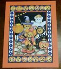 Vintage Lucy Rigg Lucy & Me Halloween greeting card, bears in costumes, unused