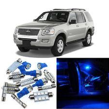9pcs Blue Interior LED Light Package Kit for Ford Explorer 2002-2010 #