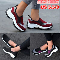 Women's Slip On Athletic Sneakers Sports Walking Breathable Running Shoes Gym