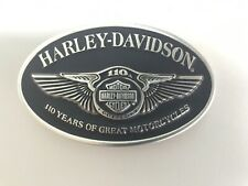 Harley-Davidson men's 110 year Anniversary  belt buckle .Silver plaited & Black.