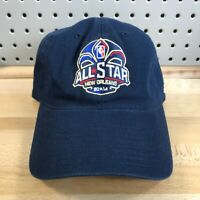 NBA ALL STAR GAME 2014 Basketball New Orleans Navy Blue Hat Strap Back EUC Cap