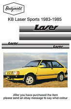Ford KB Laser Sports 1983 to 1985 stripe and decal set
