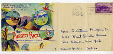 Puerto Rico 1937 Possession Series Cachet Cover Stamps # 801