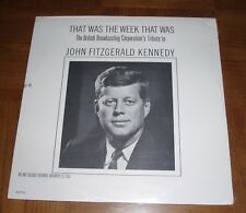 SEALED JOHN F. KENNEDY LP - THAT WAS THE WEEK THAT WAS -BBC TRIBUTE-NOV 23, 1963