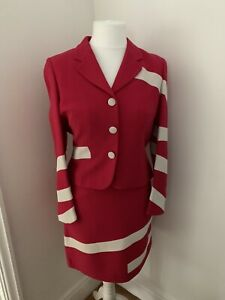 Vintage Moschino Cheap & Chic Designer Skirt Suit Size 12 Made In Italy
