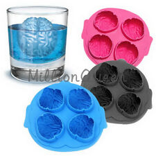 Novelty Freeze Ice Cube Tray Mold Cool Drink Party Dining Bar Brain Shape Mold