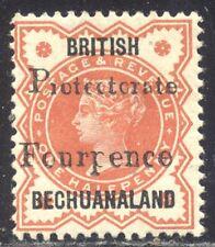 Bechuanaland #68 Mint - 1889 4p on 1/2p Vermilion ($52)