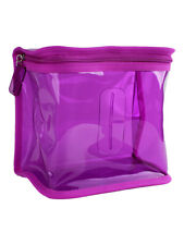 Clinique Purple Plastic Cubic Small Cosmetic Makeup Travel Bag