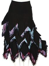 M Fairy Lolita Emo Goth Gypsy SteamPunk Boho Ruffle Layered Gothic Mermaid Skirt