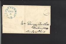 MOUNT VERNON,OHIO 1843 STAMPLESS COVER,MS 6,  KNOX CO. /OP.