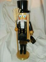 "Steinbach Dickens Townfolke Chimney Sweep Nutcracker 18 1/2"" Brand New with Tag"