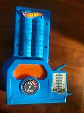 2014 Hot Wheels Blue Power Booster Launcher Tested works No Corrosion
