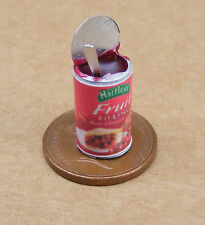 1:12 Scale Open Tin Of Red Cherries Dolls House Miniature Kitchen Can Accessory