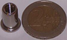 50 Edelstahl A2 Nietmuttern M5 Flachkopf 0,5-3,0mm