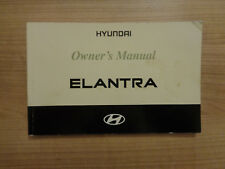 Hyundai Elantra Owners Handbook/Manual 00-03