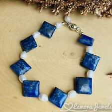 Lapis Lazuli And Natural Pearl Beaded Bracelet Handmade Fashion Women Jewelry